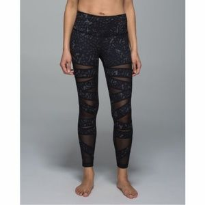 e4ce0e2509a911 lululemon athletica Pants - Lululemon High Times Mesh Leggings Star Crushed  B7